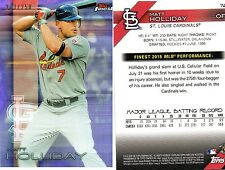 2016 Topps Finest St. Louis Cardinals #74 Matt Holliday Purple Refractor 213/250
