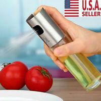 Kitchen Olive Oil Sprayer Dispenser For BBQ/Cooking/Vinegar Glass Bottle NEW USA