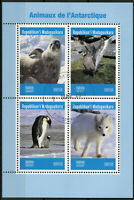 Madagascar 2019 CTO Animals of Antarctica 4v M/S Seals Penguins Birds Stamps