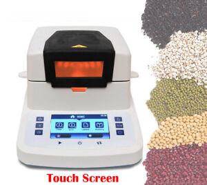 Rapid Halogen Moisture Meter Analyzer Grain Tea Plastic Granule Touch Screen 50g