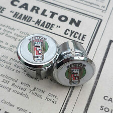 Vintage Style Carlton, Worksop Crest Racing Bar Plugs, Caps, Repro