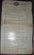 doc018 - DROIT DE CONFIRMATION GENERALITÉ D'ORLEANS - CHARTRES 1742