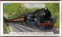 Melbourne Express Sounth Australian Government Railway 80+ Y/O Ad Trade Card