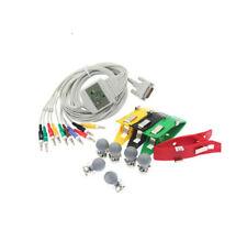 Schiller ECG EKG 10-lead cable with Suction electrode & Limp Clamp Compatible