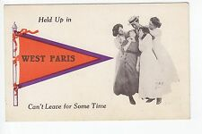 Orange and Purple Printed Pennant 4 Women Hold up Man in West Paris Maine ME
