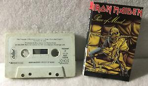 Iron Maiden Piece Of Mind 9 track 1983 CASSETTE TAPE