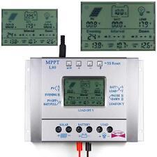 80A MPPT Solar Panel Regulator Charge Controller 12V/24V 1000W/2000W &LCD USB UP