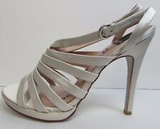 Dolce Vita Size 9 Ivory Satin Heels New Womens Shoes