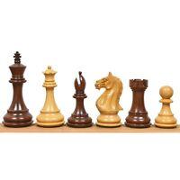 "4"" Ferocious Knight Staunton Chess Pieces Only set - Golden Rosewood & Boxwood"