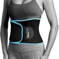 Premium Waist Trimmer - Adjustable Fat Burner Stomach Wrap w/ Mesh Bag