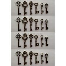 24pcs Vintage Style Antique Skeleton Furniture Cabinet Old Lock Keys Copper D