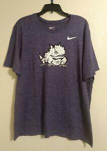 NIKE The Nike Tee Dri-Fit TCU Horned Frogs Graphic Athletic Cut T-Shirt Sz XXL