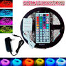 5M SMD RGB 5050 Waterproof LED Strip light +44key remote+12v power supply