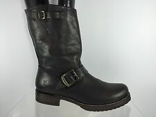 Frye Womens Dark Brown Leather Boots 8 B