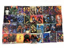 59  Trading Cards 94 Marvel Masterpieces & 95 Flair Spider-Man X-men Avengers