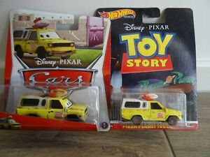 Disney Pixar Cars and Toy Story TWO Todd Pizza Planet RARE Hot Wheels Mattel