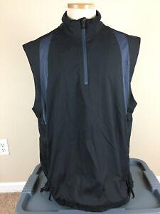 Adidas Climaproof 1/4 Zip Pullover Golf Wind Vest Sleeveless Jacket Men's Sz XL