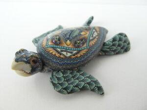 Fimo Clay Millifiori Animal sculpture by Jon Anderson - small sea turtle