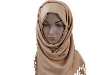 rouille marron Neuf UNI châle écharpe étole enveloppant hijab 100% viscose