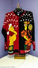 Winnie The Pooh & Tigger Too Disney Adult Christmas Cardigan Sweater U.S. Made