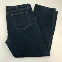 Wrangler Denim Jeans Mens 40X30 Blue Straight Leg Regular Fit Cotton Medium Wash