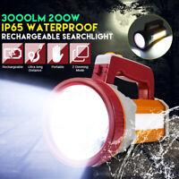 Super Bright LED Searchlight Spotlight Rechargeable Flashlight Torch Work Light