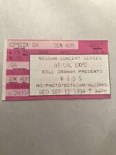 Vintage Kiss Concert Ticket Sep 12th 1990