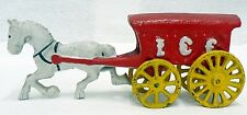 REPRODUCTION CAST IRON HORSE AND ICE WAGON