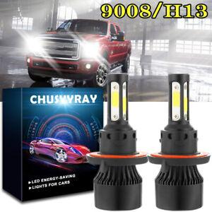 For Dodge Ram 1500 2500 3500 2006-2012 4-Side 6000K LED Headlight Hi/Lo Bulbs 2x
