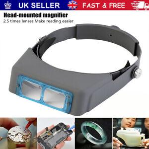 Optivisor Lens Head Magnifier Glasses Magnifying Visor Glass Headband Lenses New