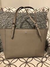 Tory Burch York Small Buckle Tote French Grey