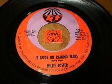 MILLIE FOSTER - OLE FATHER TIME - IT KEEPS ON RAINING    / LISTEN - SOUL POPCORN