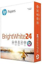 Hp Bright White Inkjet Paper 97 Brightness 24lb 8-1/2 x 11 500 Sheets/Ream