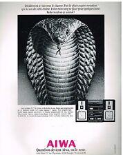 Publicité Advertising 1986 La Chaine Hi Fi Aiwa