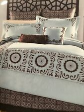 Anthology Melbourne Blue Mist Queen 8 Pieces  Bedding by Bed, Bath & Beyond