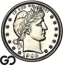 1902 Barber Quarter PROOF, Gem PR++, A Mere 777 PR Minted