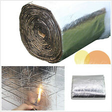 98.43''×39.37''Aluminum Foil Car Truck Firewall Sound Deadener Insulation Cotton