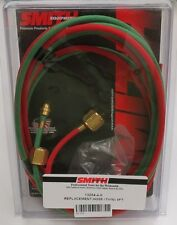 Miller-Smith Little Torch Green Oxygen and Red Gas Hose 8ft Model 13254-4-8