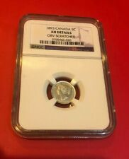 1893 Canada 5 Cents Silver Coin NGC AU DETAILS