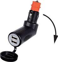 Double USB Plug In Cigarette Lighter /Current Socket Watertight Cap 12/24V. 3.1A