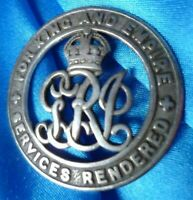 WW1 For King and Empire Services Rendered Badge 493868 Genuine/Original