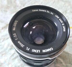 Canon FL 35mm f2.5  Medium Wide Lens