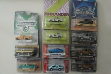 1/64 Lot of Greenlight Diecast Cars Trucks: Jeep, Chevy, Ford, Dodge, Plymouth