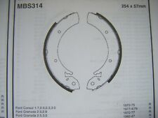 Ford P100 1.6 pickup rear brake shoes (mbs314) (82 - 88)