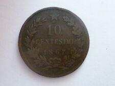 REGNO D'ITALIA  VITTORIO EMANUELE II -10 CENTESIMI 1867 H