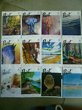 Paint SAA Magazine 2019 - 2020 Job Lot Bundle 12 Copies Painting Drawing Art