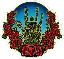 5604 Jerry Garcia Hand Logo Roses Rock Music Band Grateful Dead Sticker / Decal