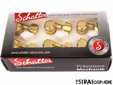 NEW Schaller M6 Locking GOLD TUNERS 6 In Line 1 Pin Model Strat Tele Fender