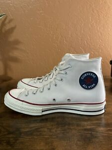 RARE Converse High Tops Off-White Unisex Mens 9 Wo's 11 with Removable Patch