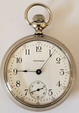 Antique Working Model 1883 WALTHAM Victorian 15J Gents Silver Pocket Watch 18s